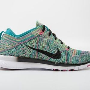 NIB NIKE FREE FLYKNIT RUNNING SHOES SWEET MULTI